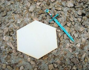 Hexagonal set of 3 2035 embellishment wooden creations