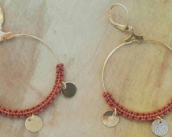 """""""NALA"""" brass hoop earring"""