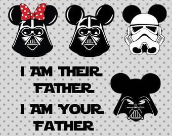 star wars SVG, dxf, png, star wars cricut and silhouette cameo, darth vader svg, star wars minnie mouse svg, light saber svg, disney svg