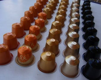 SET NO. 13 VACUUM NESPRESSO COFFEE CAPSULES AND CLEAN
