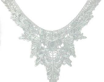 x 1 collar lace applique coloured floral MA28