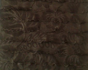 RUFFLED - POLYESTER - BLACK FABRIC COUPON