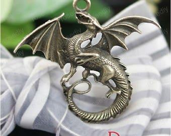 5 charms bronze 47 * 43MM long D26678