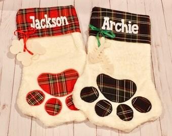 Dog Stocking / Cat Stocking / Pet Stocking / Personalized Dog Christmas / Dog Gift / Cat Gift / Pet Gift / Personalized Cat Christmas