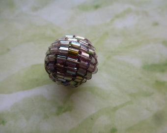 round Pearl black Miyuki diameter 19 mm for pendant or charm