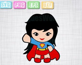 Super woman superhero, svg svg, cricut, super man girl svg eps dxf pdf superwoman