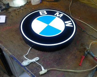 BMW Lighted Sign 24 inch round