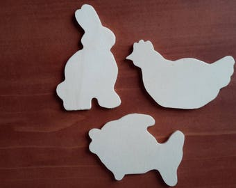 3 shapes to decorate for Easter