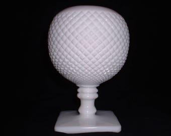 Westmoreland Milk Glass Ball English Hobnail Pedestal Vase