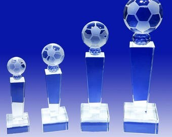 Soccer School Leadership Personalized Custom Laser Etched Engraving Crystal Trophy Award TH093-Soccer