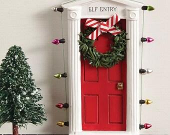 Magical Elf Door Magic Mini Elf on a Shelf Entrance Christmas Childrens Decor Santa by Mud Pie