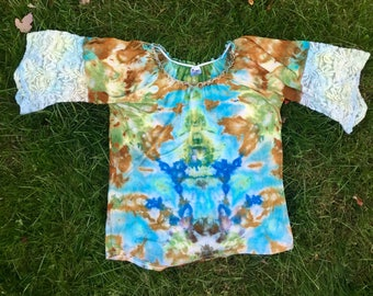 W S Ice Dye Thrifted Blouse