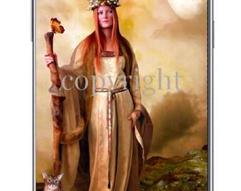 La druide fond d'écran pour ipod ou ordinateur création unique sur le thème féerique.