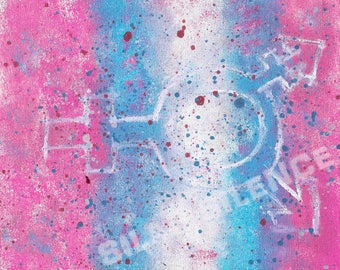 Transgender Splatter Paint