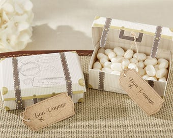 Suitcase Favor Boxes Wedding Travel Theme Candy Boxes Favors - Bridal Shower Retirement Farewell Party - Set of 24 - MW34053