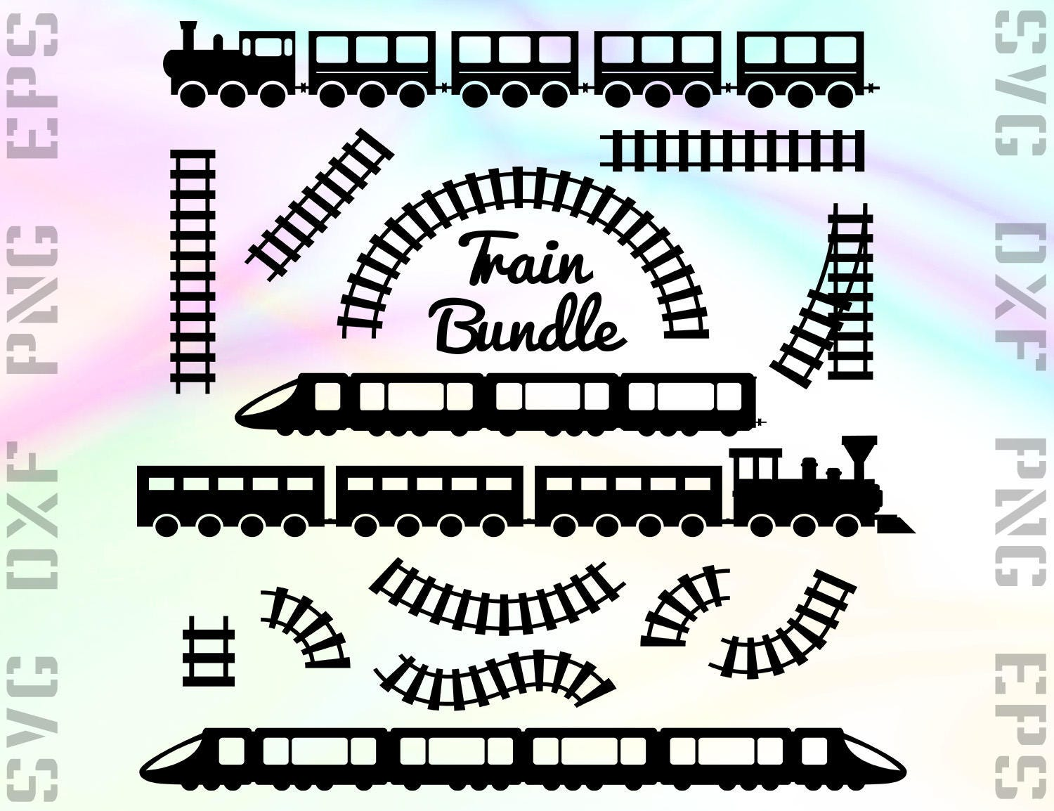Digital Files Monogram Train Svg Dxf Eps Railroad – Desenhos Para