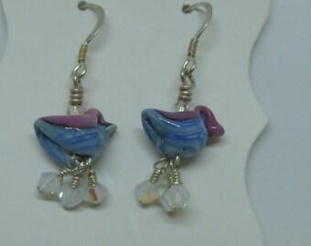 Earrings Bird earrings on silver