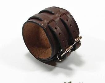 Bracelet 2 Leather Brown straps