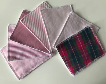 Set of 7 wipes
