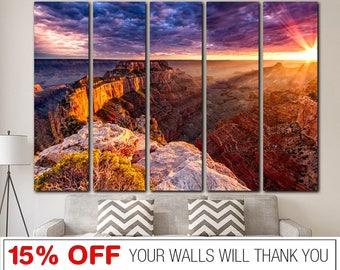 Grand Canyon, Colorado River, Arizona, Landscape, Sunset, Grand Canyon canvas, Colorado River canvas, Landscape cavnas, Sunset wall art