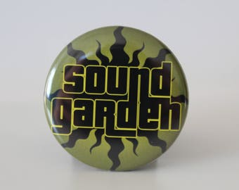 Soundgarden badge - 38mm pin back button - Blackhole Sun - Chris Cornell - Grunge