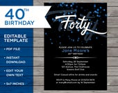 40th Birthday Invitation,...