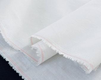 Silky cotton batiste fabric ecru x50cm