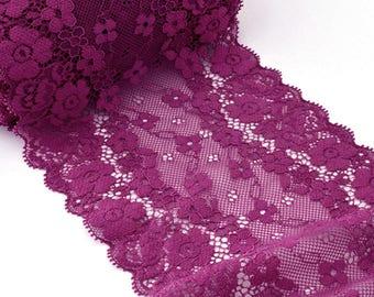 Lace couture lingerie fluid plum 13cm x 1 meter
