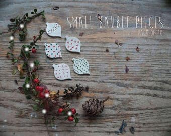 Christmas Bauble Assortment Clay Pieces (10x Pack)