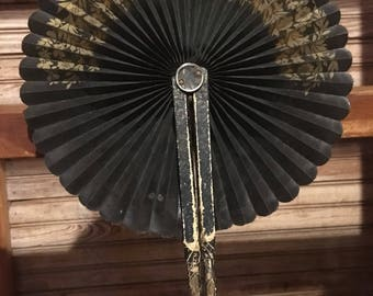 Antique Victorian Mourning Fan