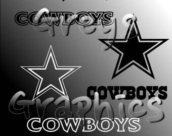Dallas Cowboys Primary Logo with Logotype Single Color - SVG - DXF - EPS - Vectors