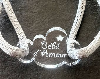 Cloud name bracelet