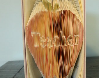 Apple For Teacher - Folded Book Art