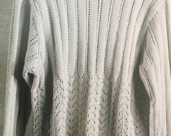 PDF Knit Lace Sweater