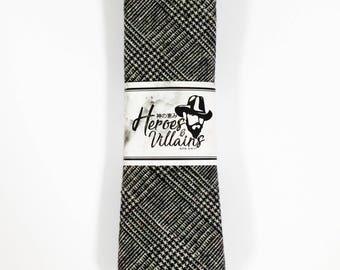 Rustic grey wool tie,skinny ties,gingham skinny tie,dapper skinny ties,groomsmen tie,floral ties,wedding ties,wool ties,dapper tie,grey tie