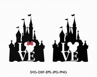 disney castle svgdisney love svgmickey minnie mouse svgdisney silhouette