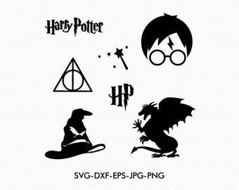 Harry Potter Svg Cut Files, Harry Potter Svg, Harry Potter Clipart, Harry Potter Silhouette Svg, use with Cricut & Silhouette