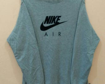 NIKE AIR sweatshirt pullover spellout big logo medium size