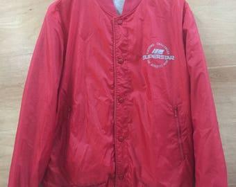 RARE ITEM! Superstar / Reversible jacket / Snap button / 90's / Sportwear / by Mizuno