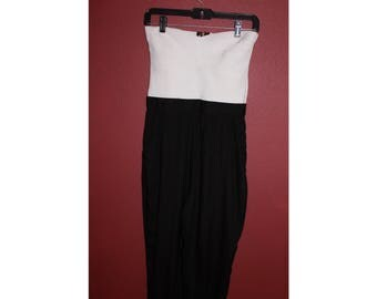 BEBE Black & White Jumpsuit