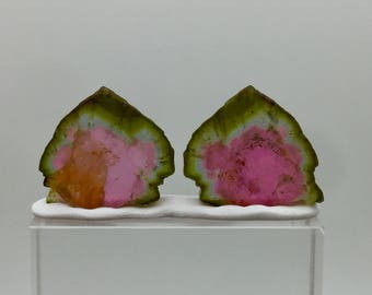 84.00 cts Top quality big size watermelon tourmaline slices