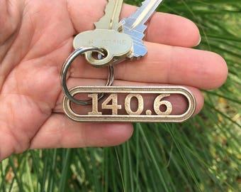 140.6 triathlon keychain gift, gift for triathletes, triathlon training motivation, tri gift, swim bike run gift, ironman keychain