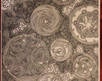 """art print """"twilight"""" 11x17"""