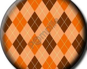 Cabochon resin 25 mm - diamonds - (710) stick