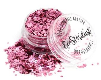 EcoStardust Super Chunky Champagne Pink Biodegradable Glitter
