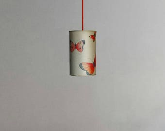 Red butterfly lampshape