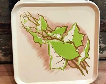 Ivy Leaf Enameled Metal Serv-a-Dish Trays!! Set of 12!!