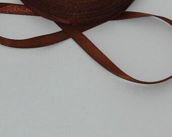 5 m width 6.7 mm Brown satin ribbon