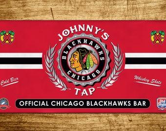 Personalized Custom Chicago Blackhawks Bar Banner