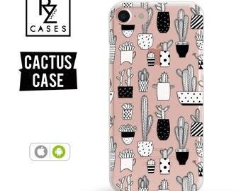 Cactus Phone Case, iPhone 7 Case, Phone Case Unique, iphone 6 case, Cactus iphone case, Gift for Her, iPhone 6s, Samsung Galaxy S7 Case